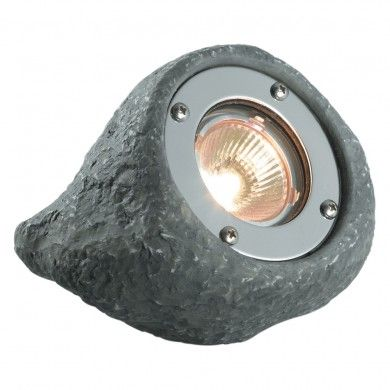 Plug Play Lapis Grey Rock Submersible Outdoor Spotlight Garden Light