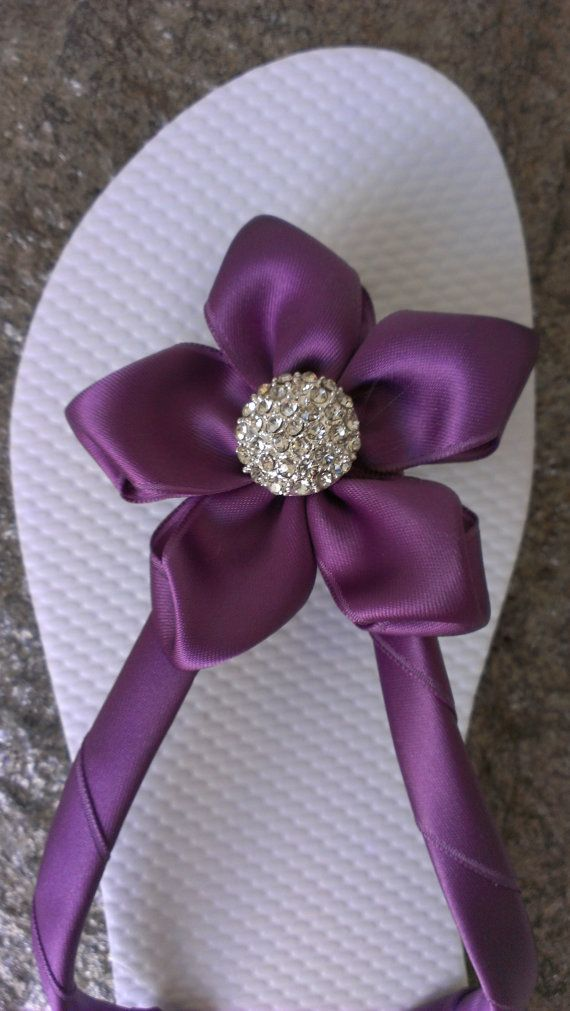 9f71381be274f Wisteria Colored Wedding Bridal Party Flip Flops by IslandToes ...
