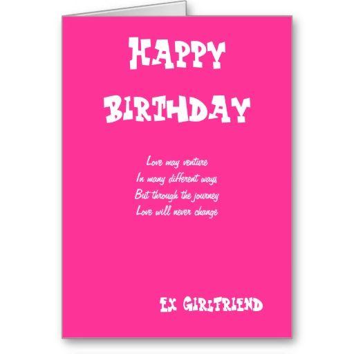 Ex Girlfriend Birthday Cards 1st Birthday Greeting Cards