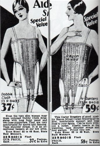 ac0c279607e Brassieres from 1928-29. Pictured in Everyday Fashions of the Twenties.