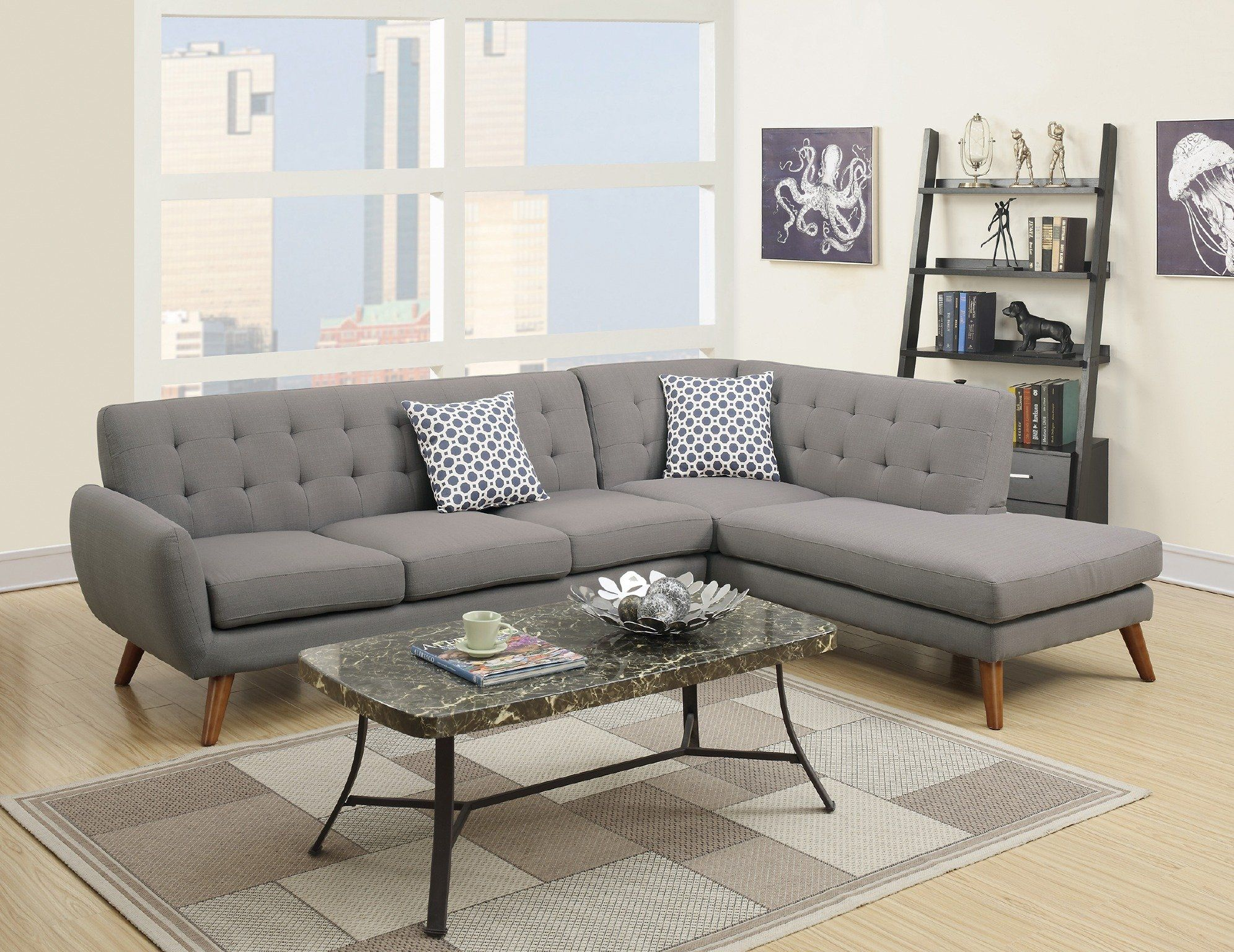 Miraculous Modern Retro Sectional Sofa Gray Modern Retro Styling Pdpeps Interior Chair Design Pdpepsorg