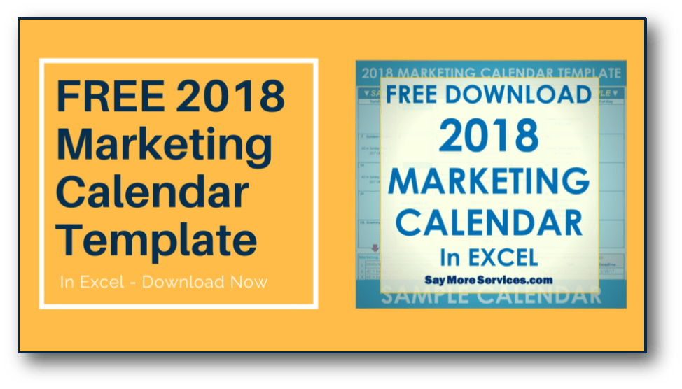 Free  Marketing Calendar Template Download Plan Out Your Small