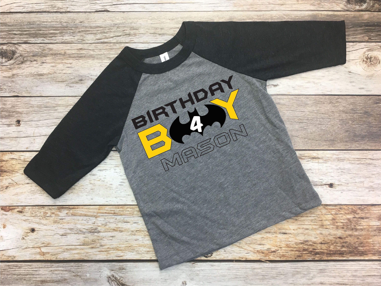 dfb386301b7ca Batman Birthday Boy.Batman Birthday.Batman Shirt.Custom Batman Shirt ...