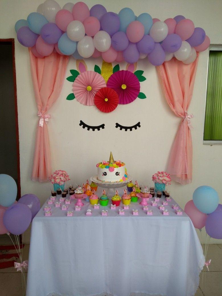 Anivers rio beb pinterest unicornio torta for Diseno de mesa de unicornio