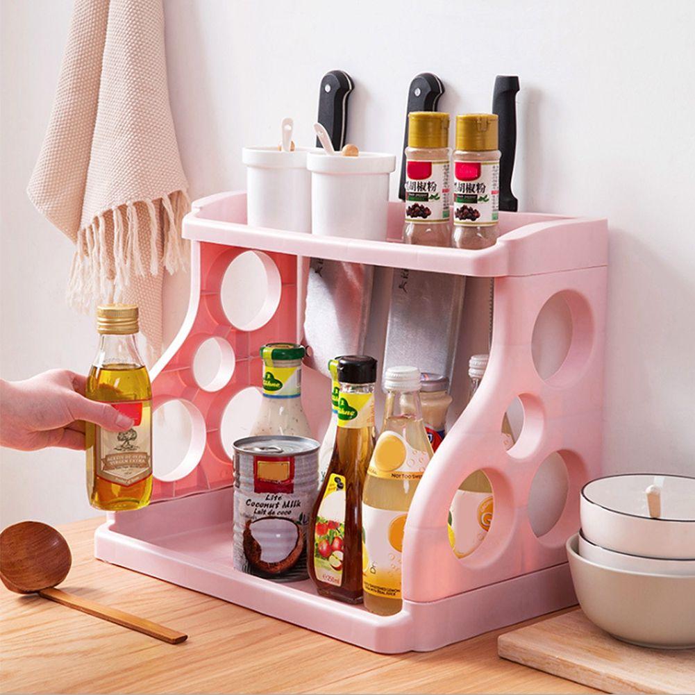 Fashion multifunction shelf rack kitchen organizer