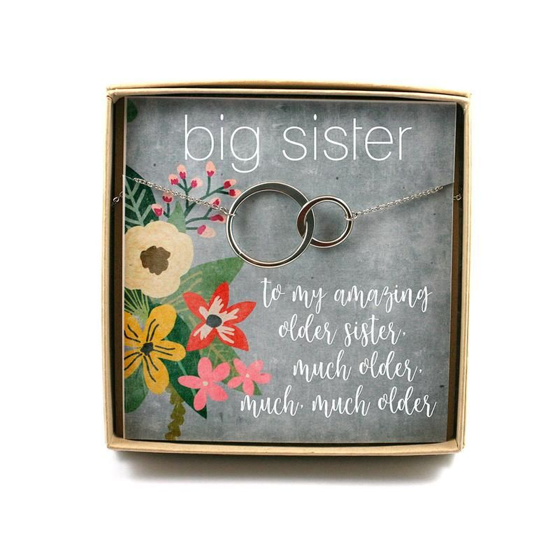 Older Sister Necklace • Older Sister Gift • Sister