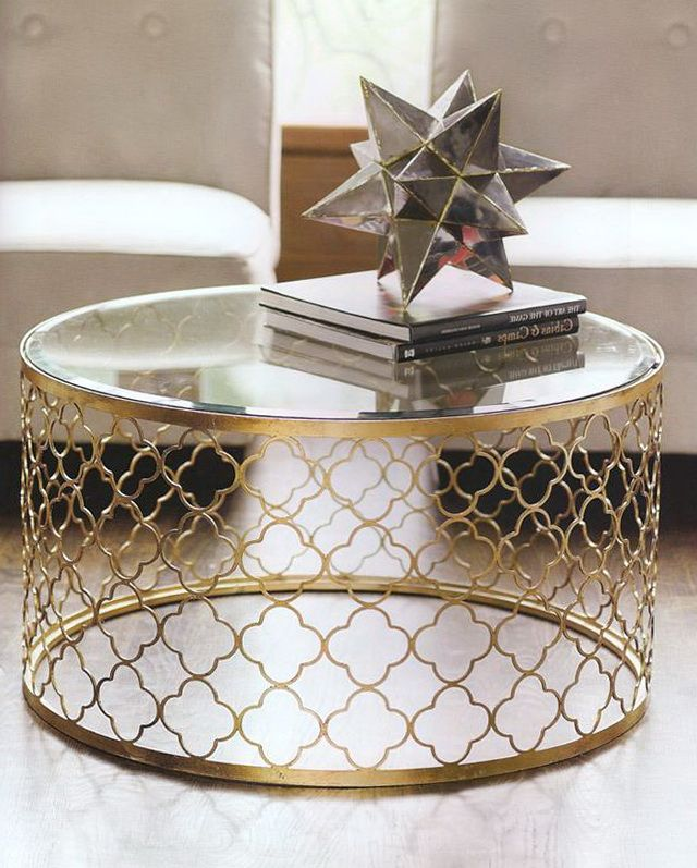 Gold and Glass Round Coffee Table Ideas Living Room Decor