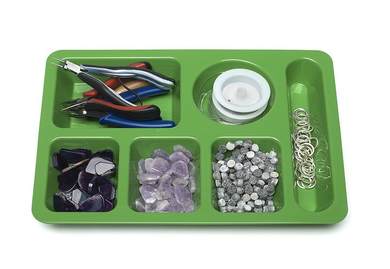 """Learn to shop the """"back to school"""" dorm section for handy beading organization tools. Bead Style magazine."""