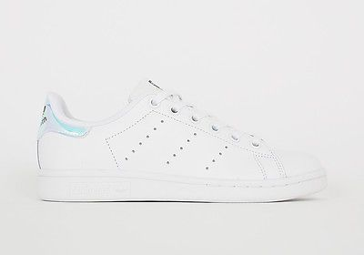 Adidas Stan Smith Iridescent Metallic Hologram White GS, Juniors, Kids,  Women. -
