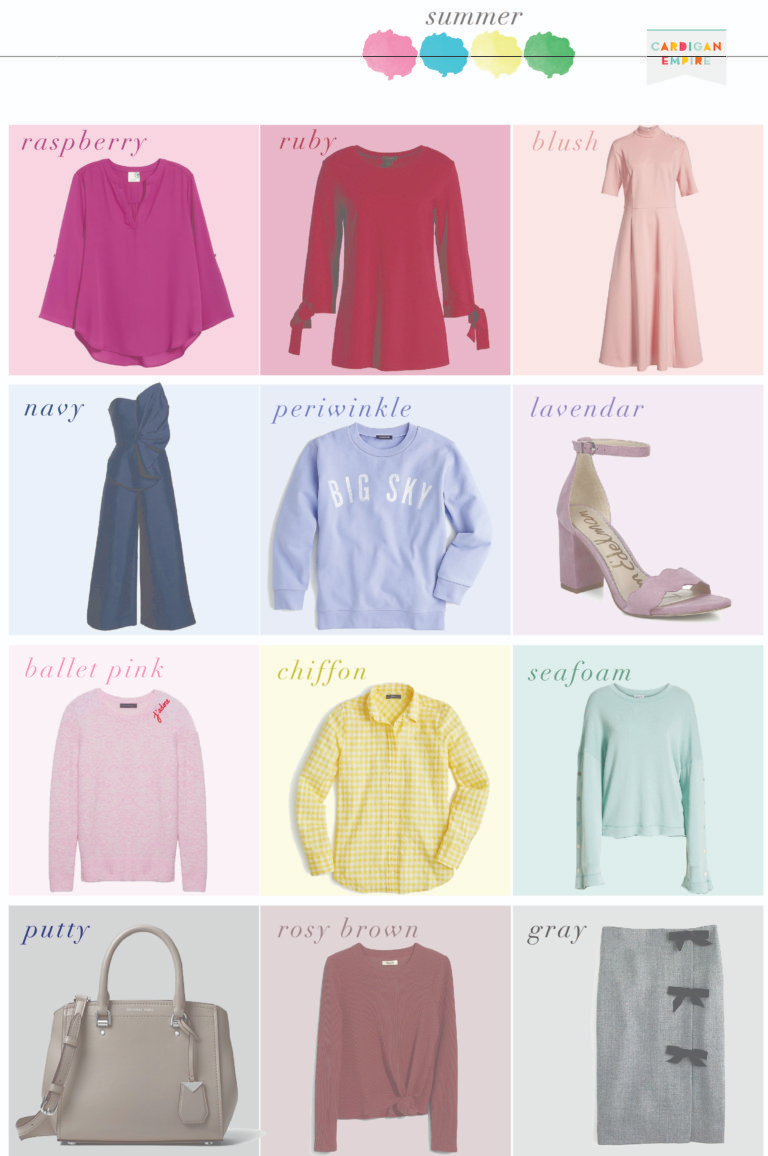 What to Wear – Summer Capsule Wardrobe – Seasonal Color Analysis