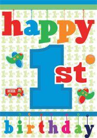 Babys First Birthday Card