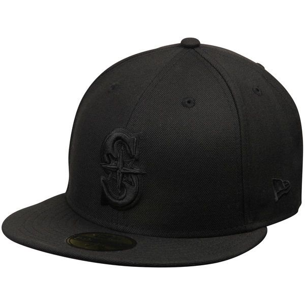 half off dc92f 20ebb ... norway mens seattle mariners new era black tonal 59fifty fitted hat  5fc26 6250a