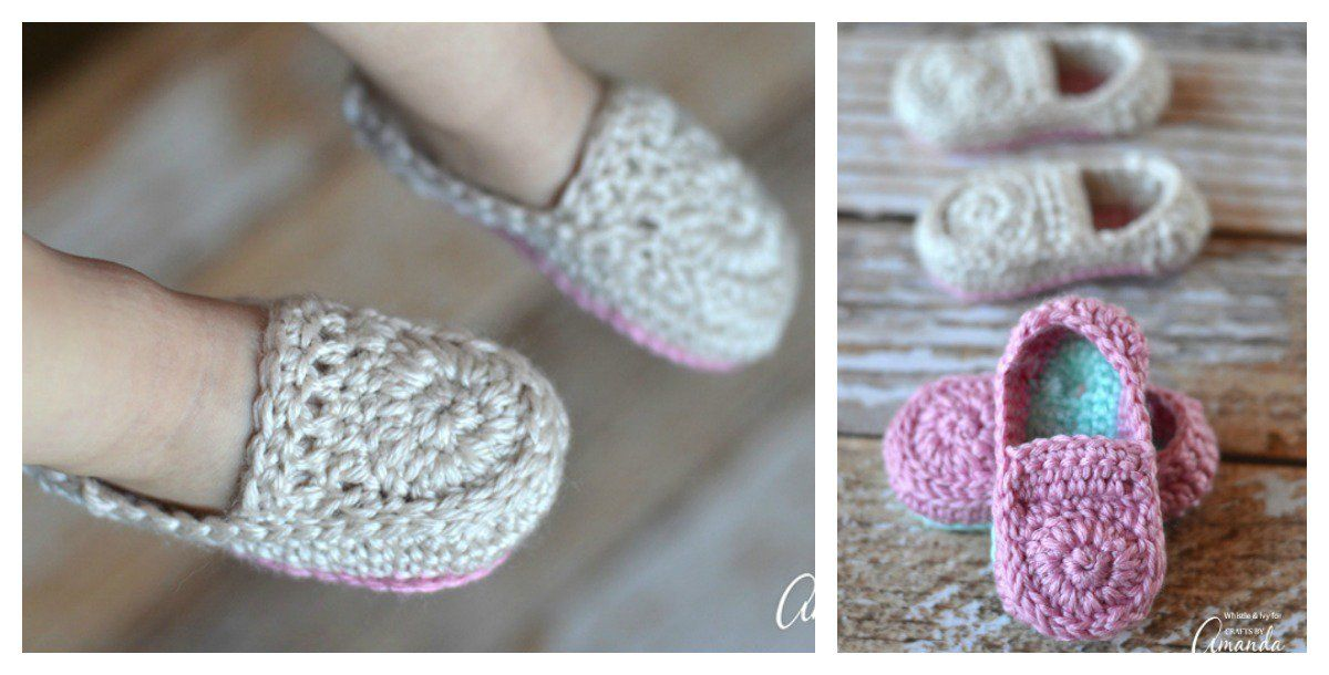 f3d06acbff70 Cute Crochet Baby Loafers Free Pattern