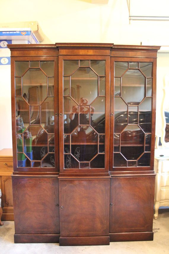 1940u0027s Bubble Glass China Cabinet.