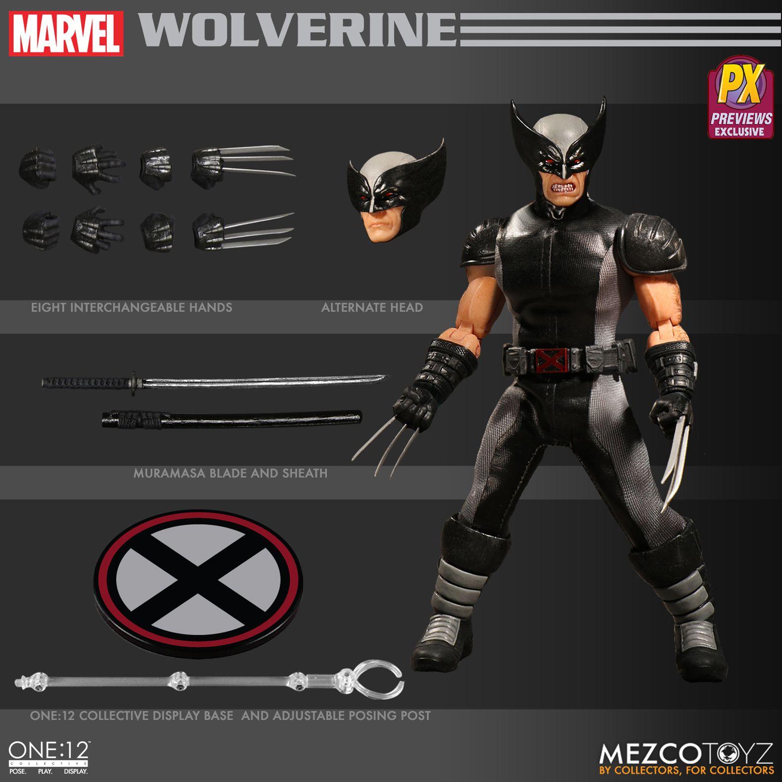Marvel Comics ~ WOLVERINE X-FORCE ~ PX Exclusive ~ One:12 Scale Figure Mezco