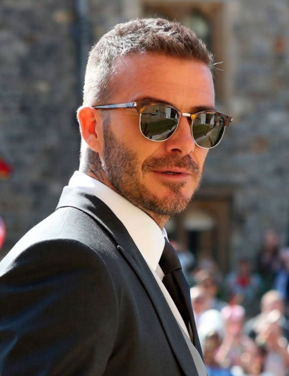5d2847b8c47 David Beckham in YSL Clubmaster Style sunglasses by David Beckham in YSL  Clubmaster Style sunglasses