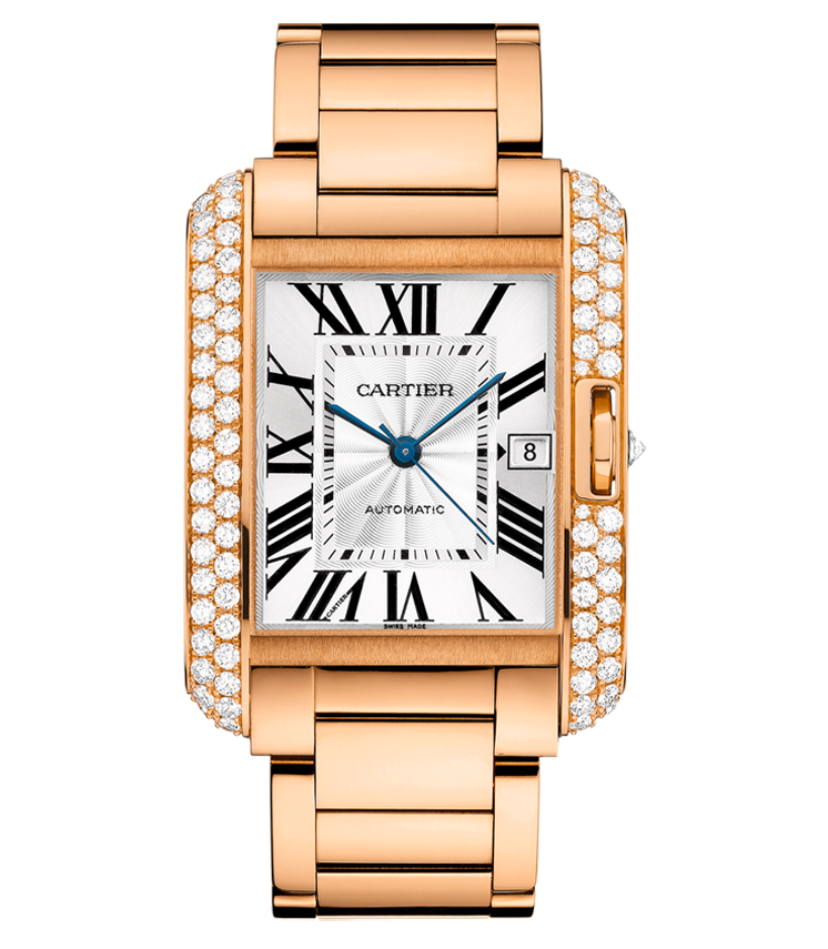 Cartier Tank Anglaise Extra-Large 18k Rose Gold Diamond Watch