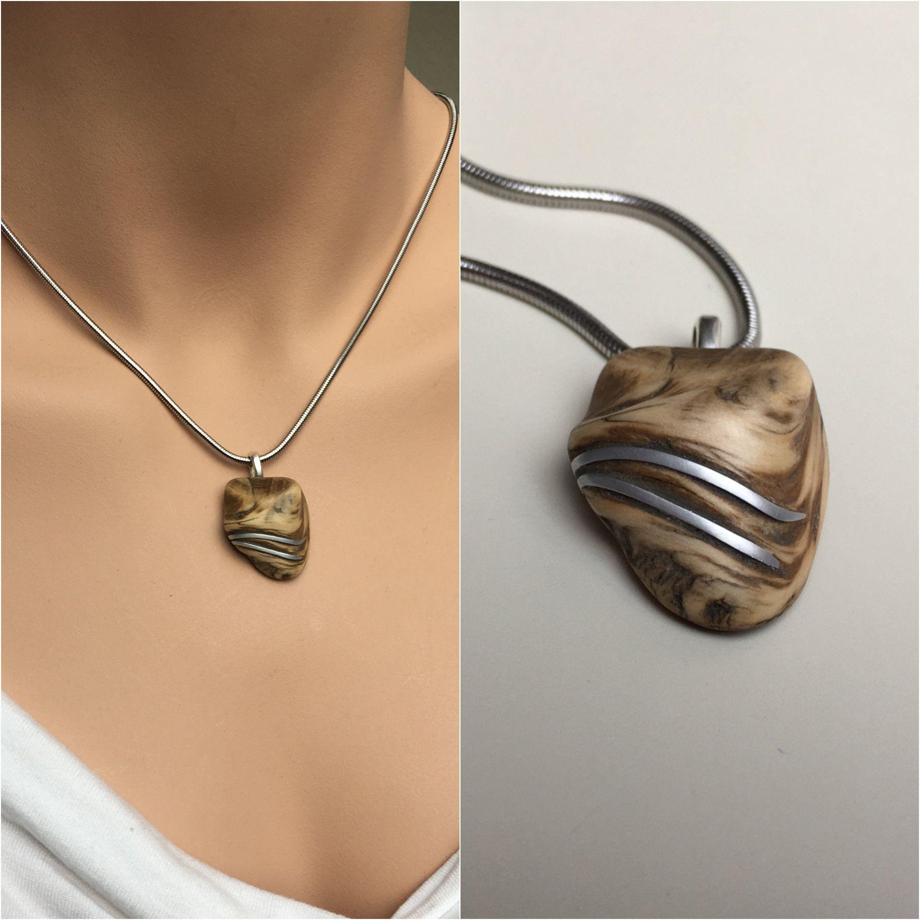 Herz Bernstein Halsband Halskette Kette mit Anhänger