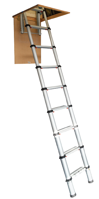 Youngman Telescopic Loft Ladder From 175 00 Vat Sweet Home Ladder Safety Ladder Telescope