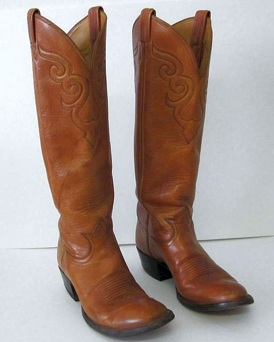 d0e19ad639e Tony Lama Boots (Ladies Longneck Cowboy Boots, Brown Leather Cowgirl ...