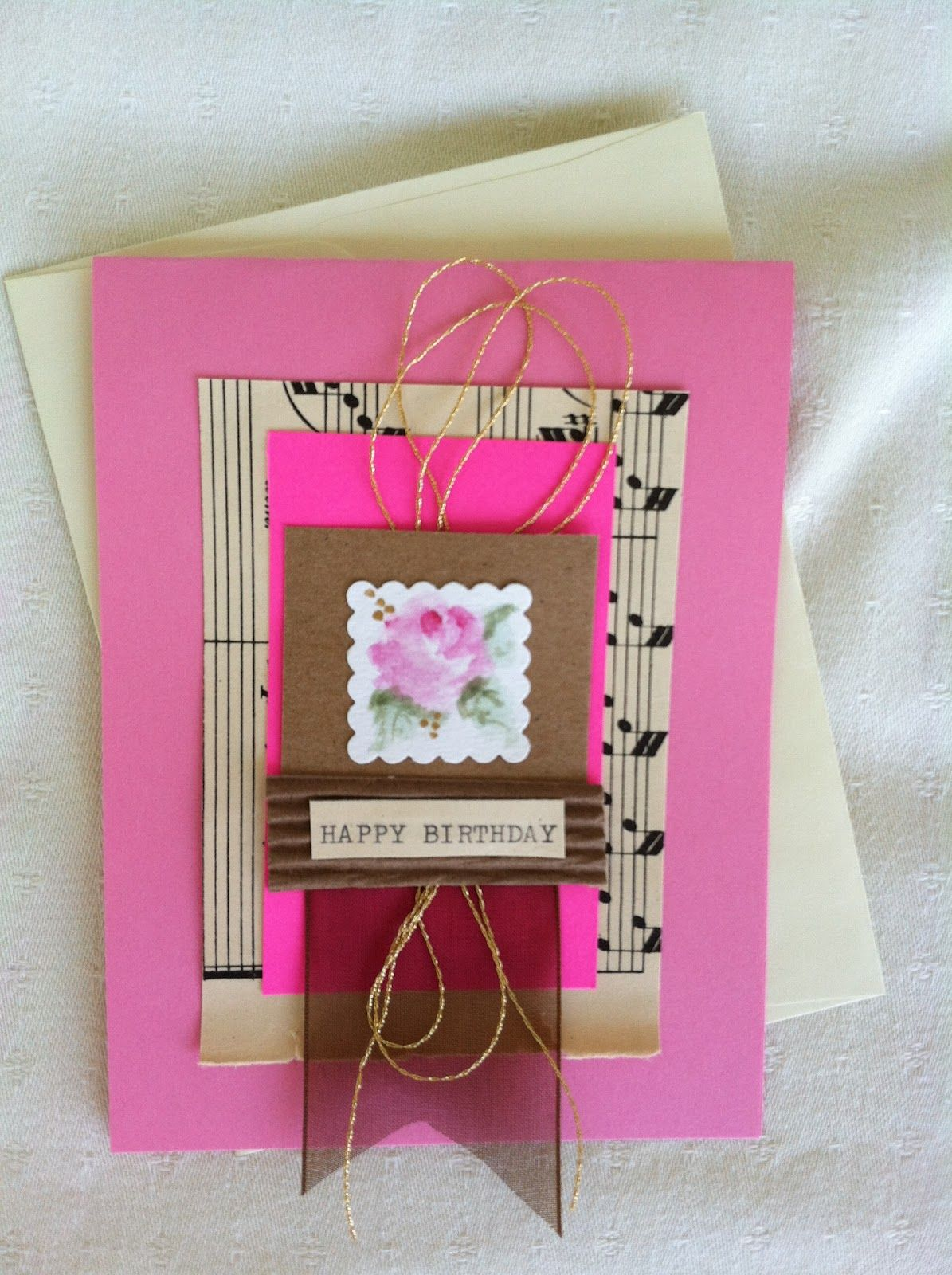 Handmade Greeting Cards For An Extra Special Person Vintage Sheet