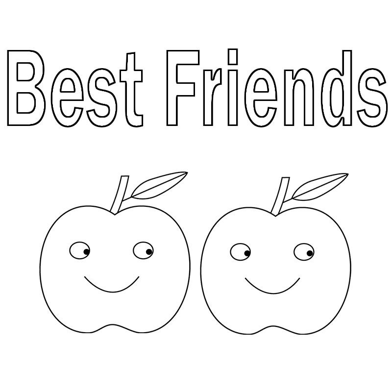 Cute Best Friend Coloring Pages | Coloring pages, Spring ...