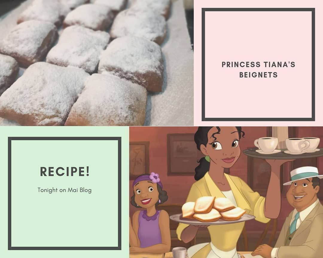 Tonight I will be uploading the best recipe for princess Tiana's Beigent on my blog 👸🏻 #princessandthefrog #princesstiana #yummy #food #recipe #disneyrecipe #foodblogger #foodreview #futurebaker #baker