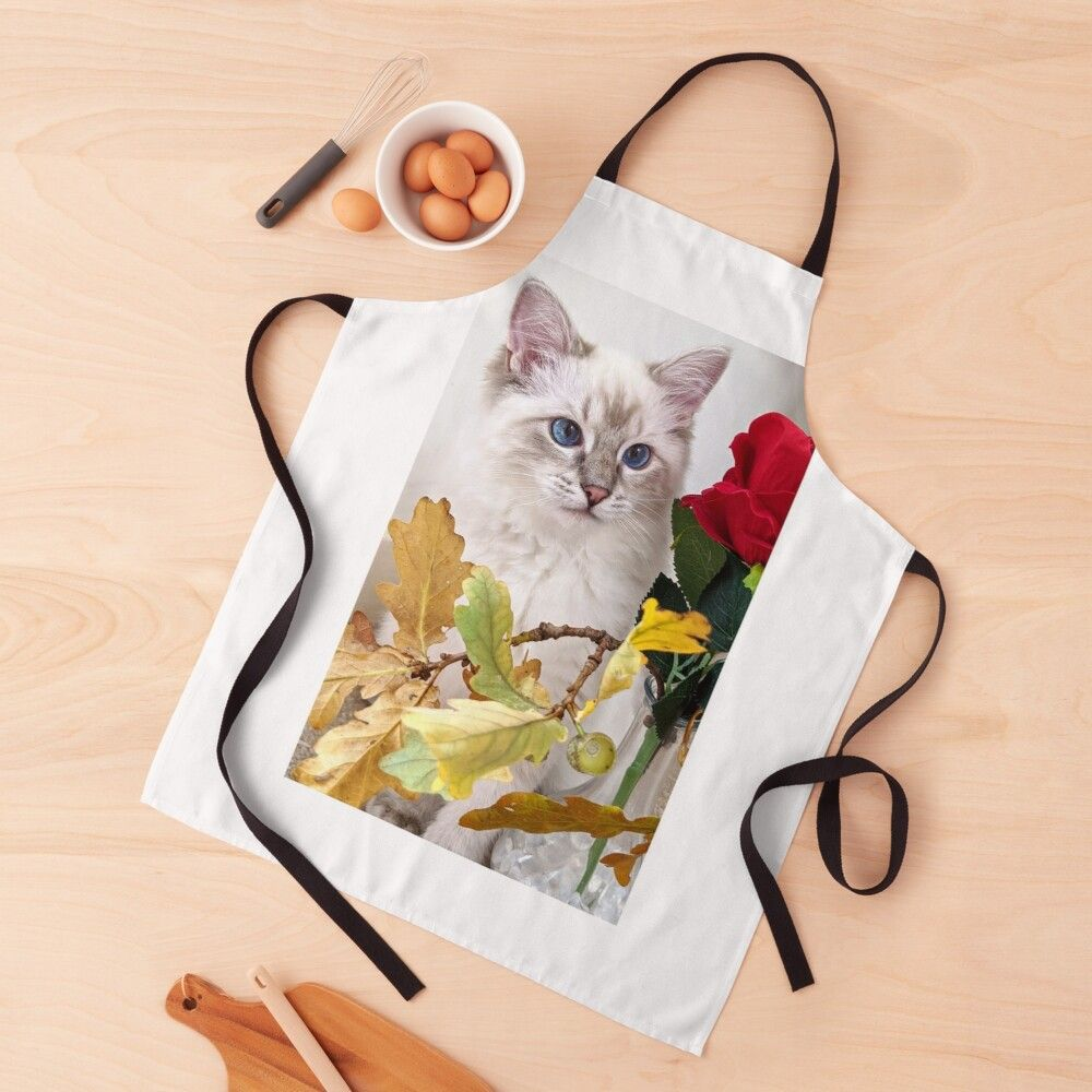Saoirse Enjoying Autumn Apron By Fluffycat2020 In 2020 Cat Gifts Autumn Apron