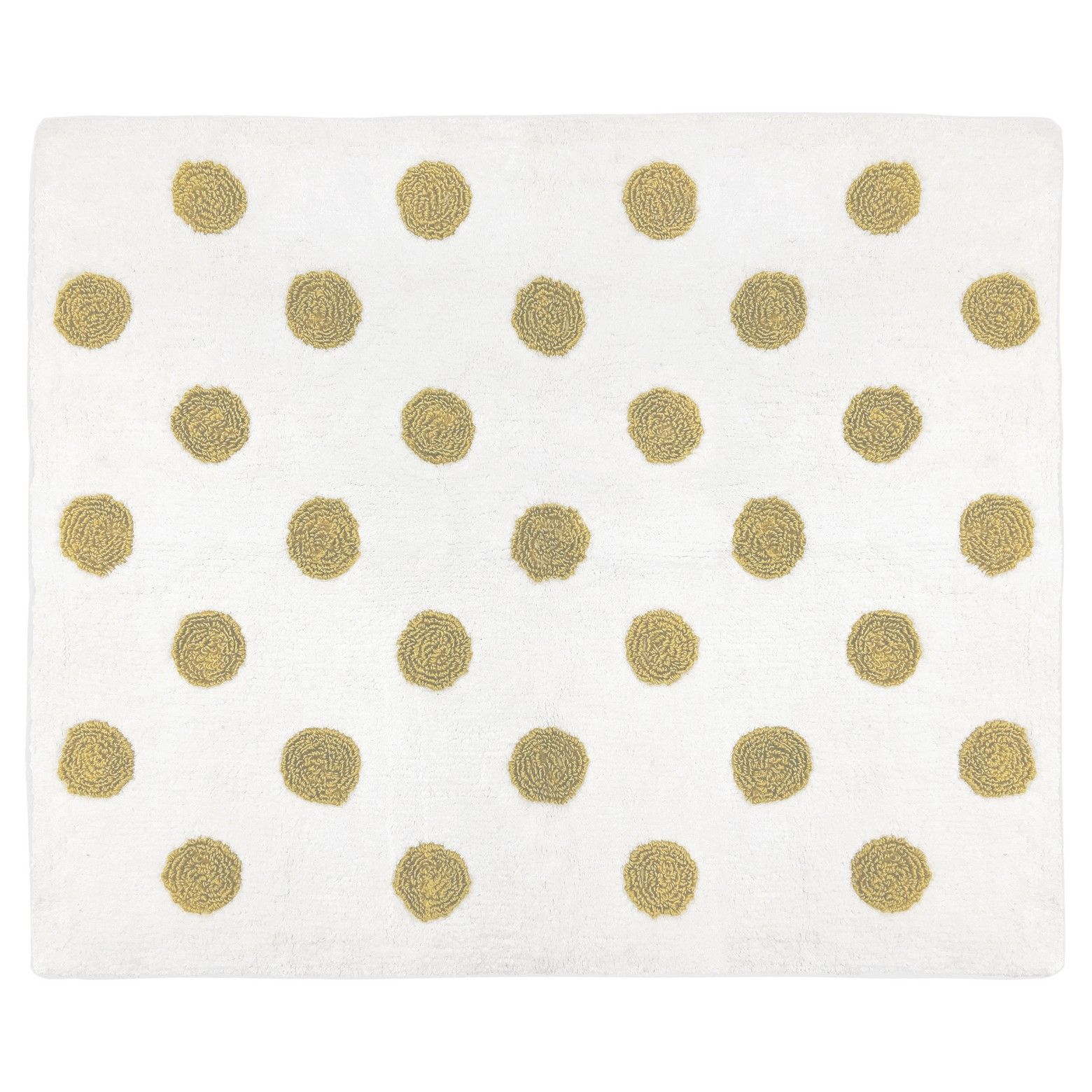 White Gold Polka Dot Rug 2 X3 Sweet Jojo Designs Target