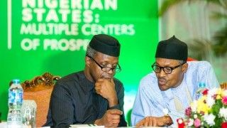 Buhari and Osinbajo at the National Economic Council Retreat