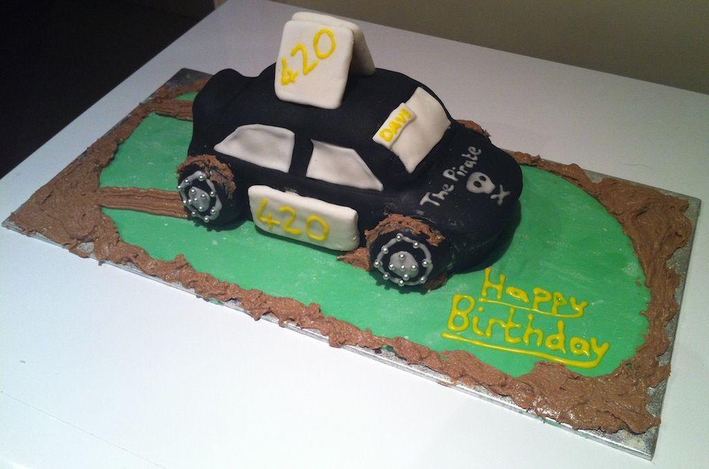 Banger Car Cake