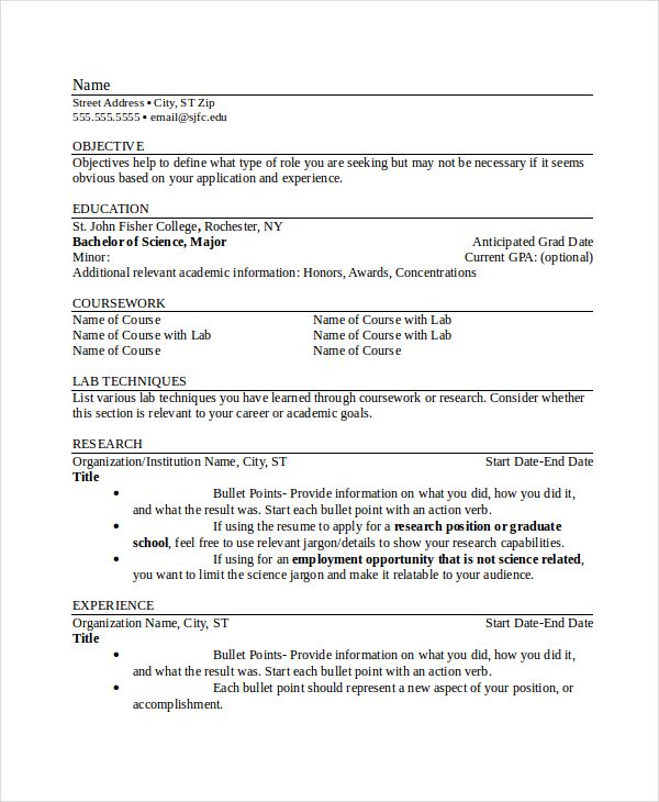 Resume Checklist Template  Resume References Template For