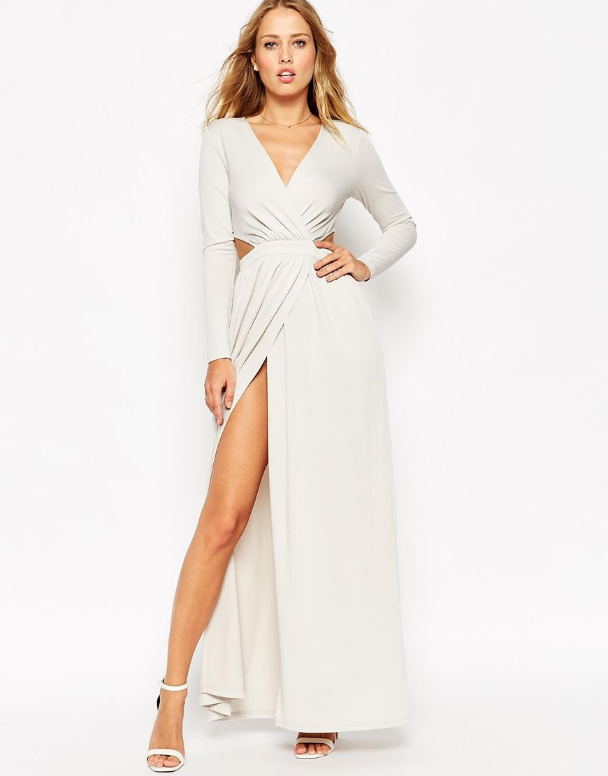 0d971fd6fe3c4 Draped Plunge Cut Out Maxi Dress | DRESS to Impress | List, Vestuarios