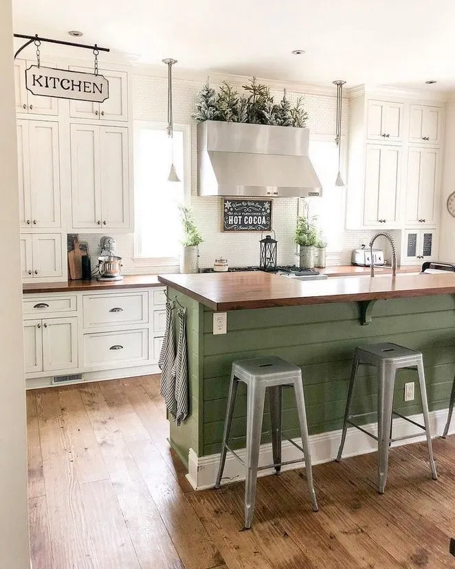 40+ pretty farmhouse kitchen makeover design ideas on a