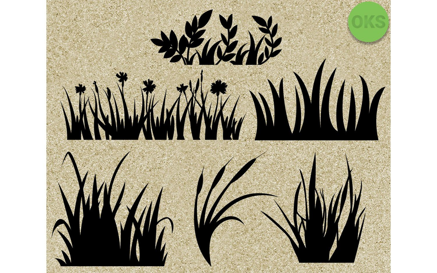 Grass Svg Bundle Vector Cricut File