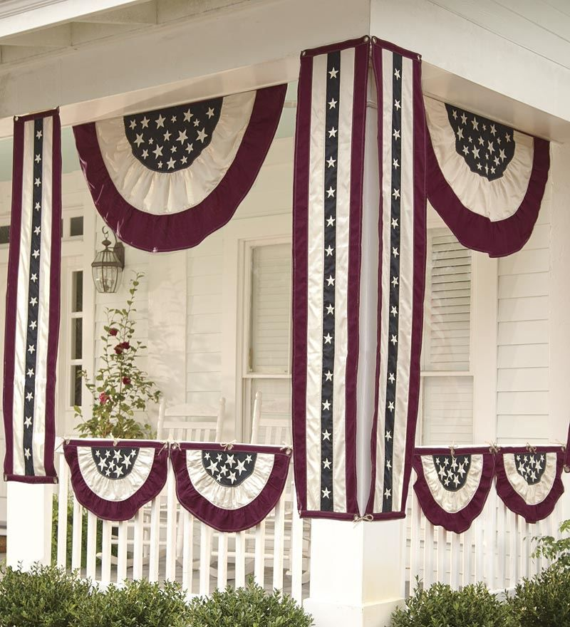 Half-Round Americana Bunting Décor } Plow  Hearth * 4th of July