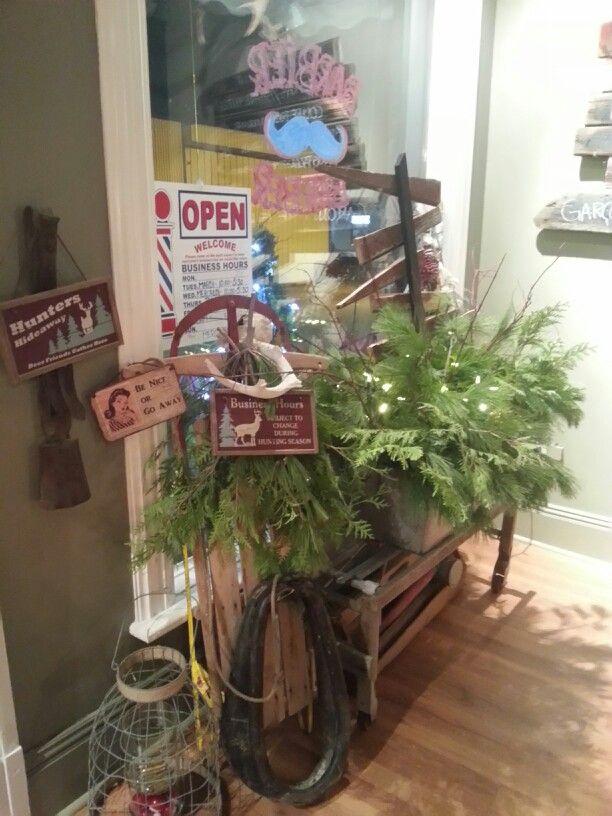 My Barbershop rustic christmas decorations | Christmas ...