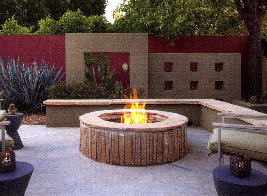 Fogata con ladrillos hornos terraza quincho jardines for Fogones rusticos en ladrillo