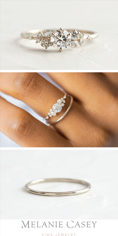 Diamond Snowdrift Ring, Made-to-Order