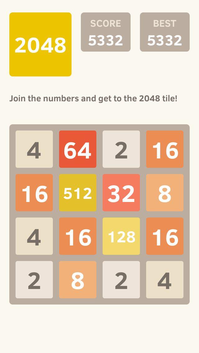 I scored 5332 points at 2048, 2048 game, Games, Fav apps