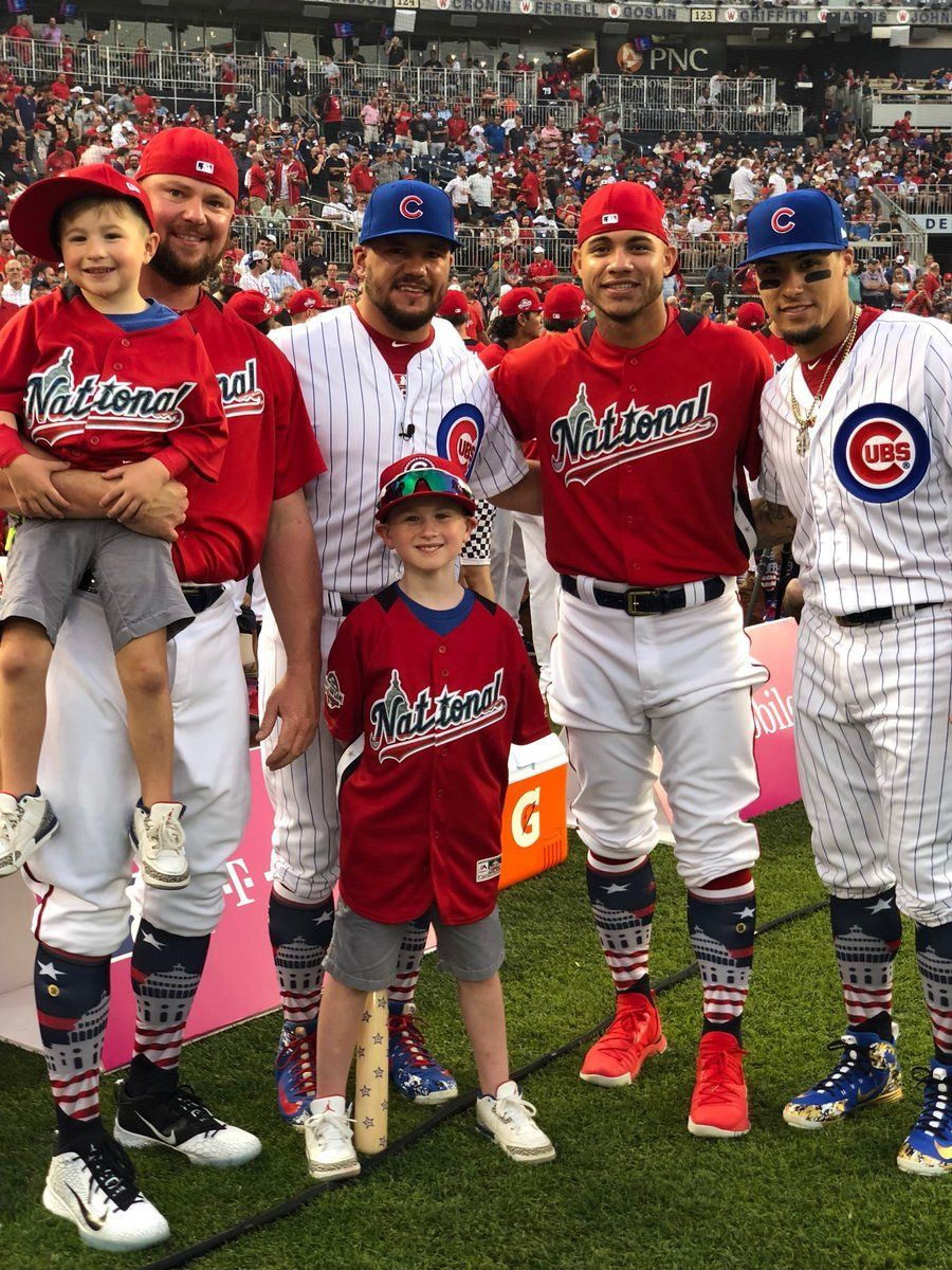 Cubs At The 2018 Home Run Derby Chicago Cubs Baseball Cubs Players Chicago Sports Teams