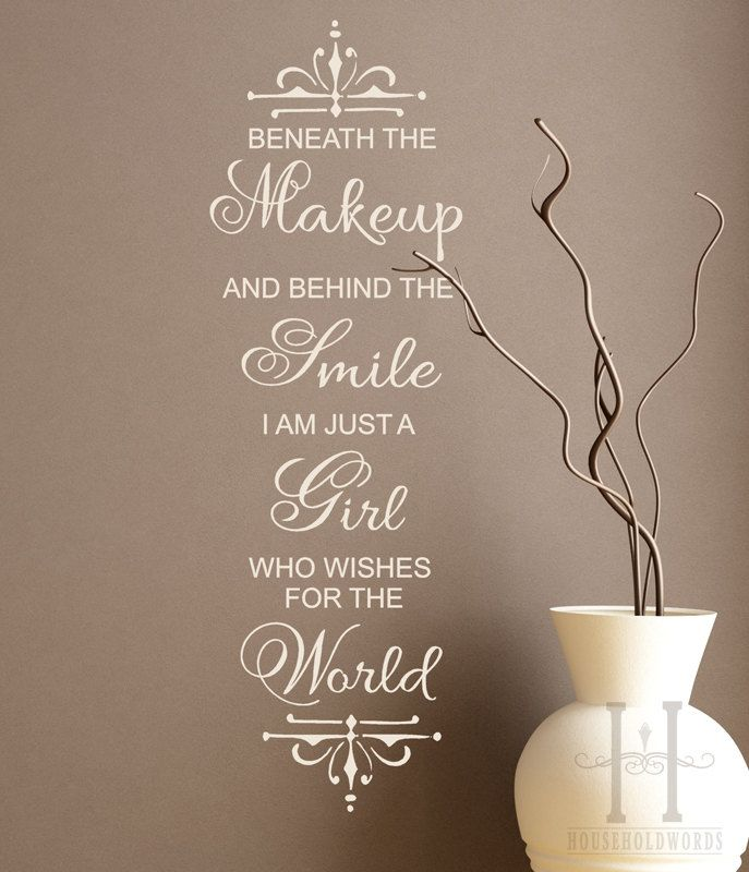 Makeup Wall Decals Google Search Just Me Pinterest Wall - Wall decals quotes for teenagers