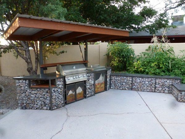 Best 25 built in gas grills ideas on pinterest built in for Built in barbecue grill ideas