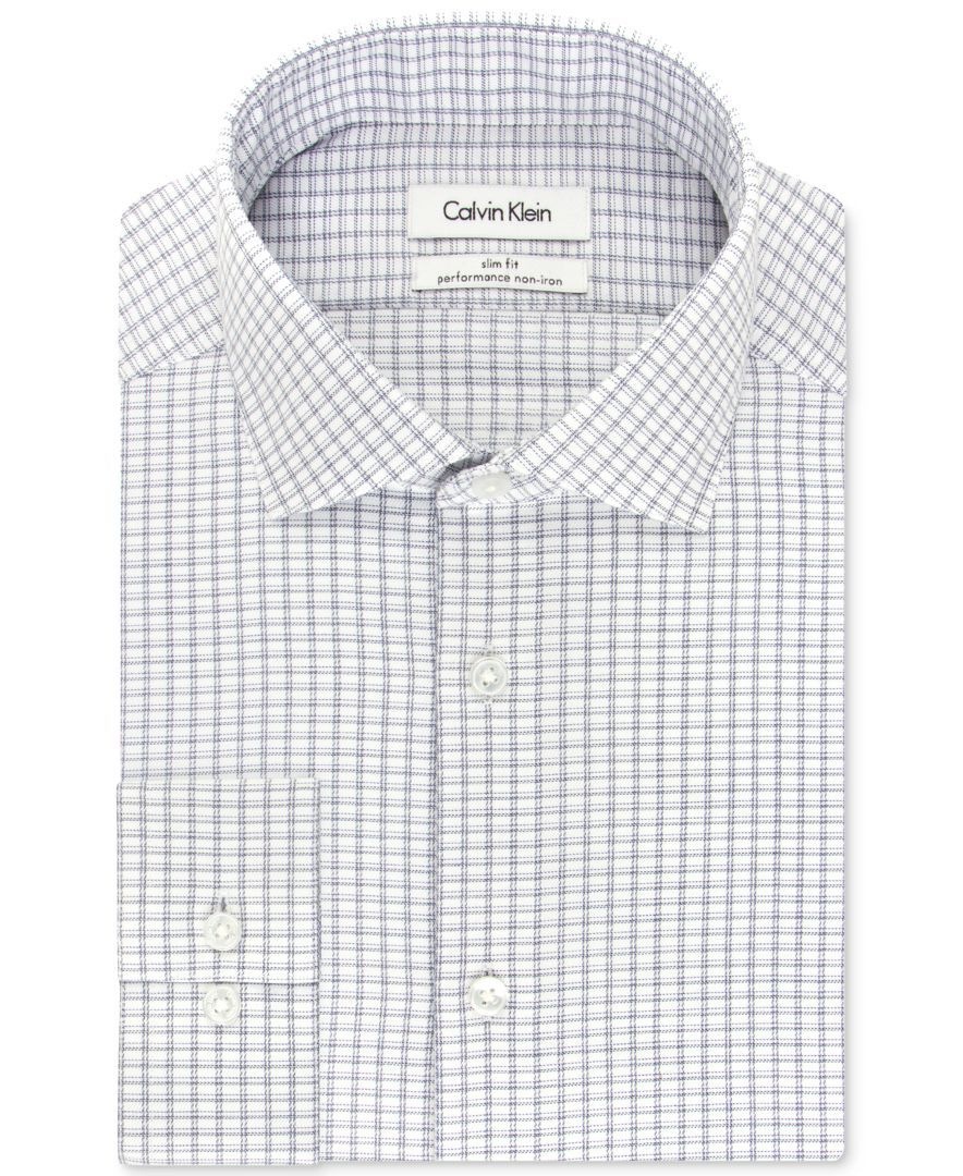 Mens Dress Shirts Calvin Klein Steel