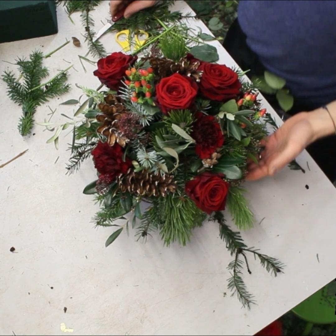 Photo of Tischdeko Idee Weihnachten rot