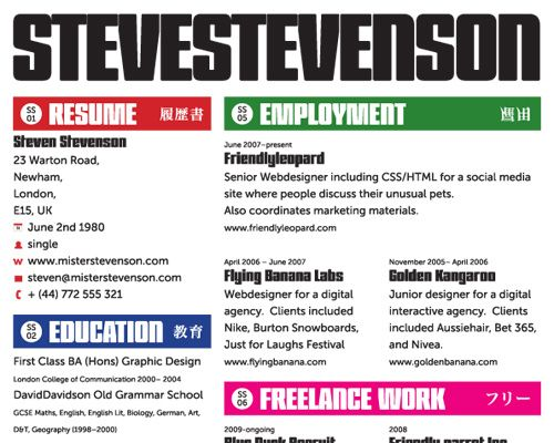 Creative And Outstanding Resume | How To Create A Great Web Design CV And  Résumé?