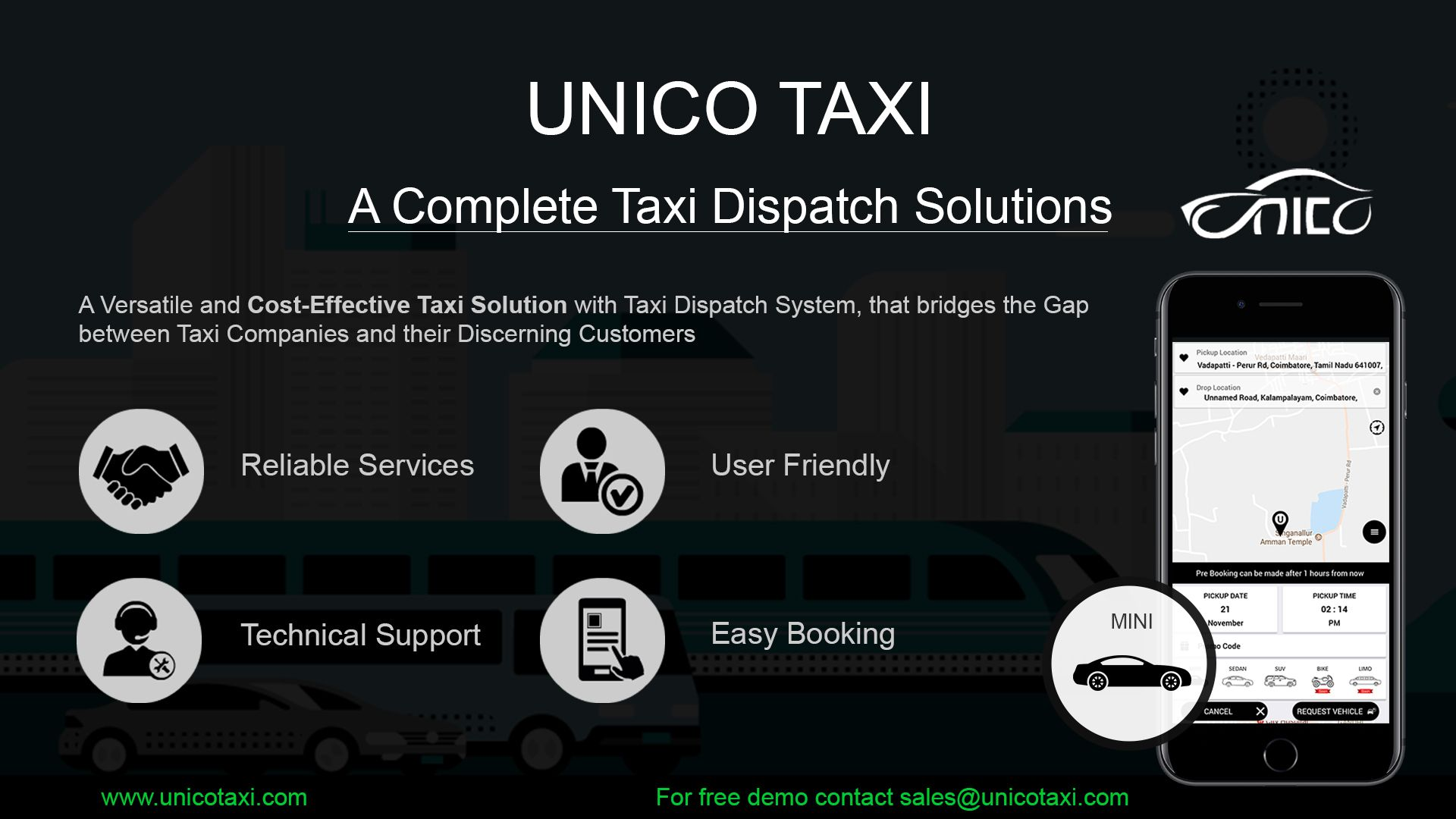 UnicoTaxi Provides a #white #label #taxi #application to handle