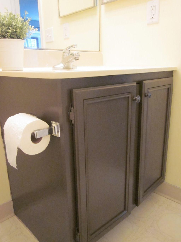 Painting Bathroom Cabinets Painted Vanity Bathroom Painted Bathroom [ 1365 x 1024 Pixel ]