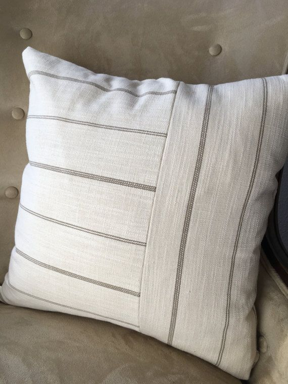 Neutral Pillow Cover 40404040 Inch Cream Pillow Cover Blue Tan Delectable 20 X 20 Inch Pillow Covers