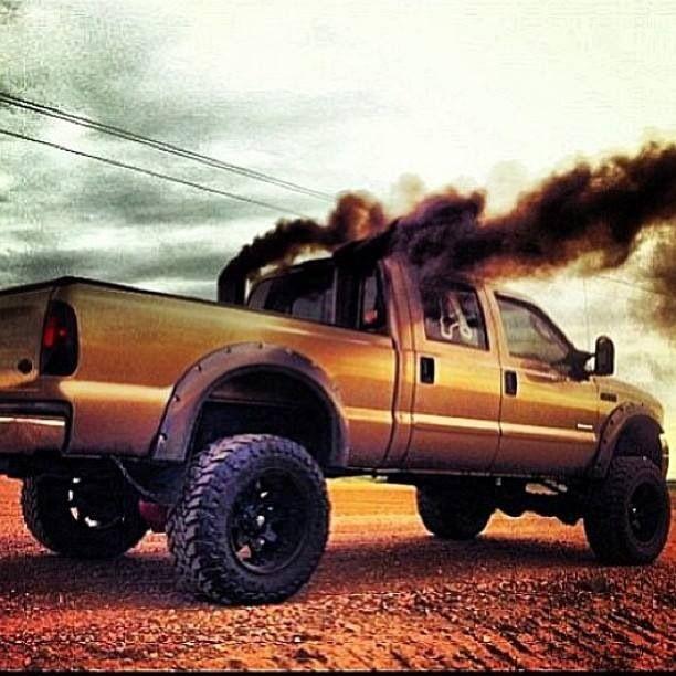 Rollin Coal Diesels Trucks Black Lifted Dodge Ford